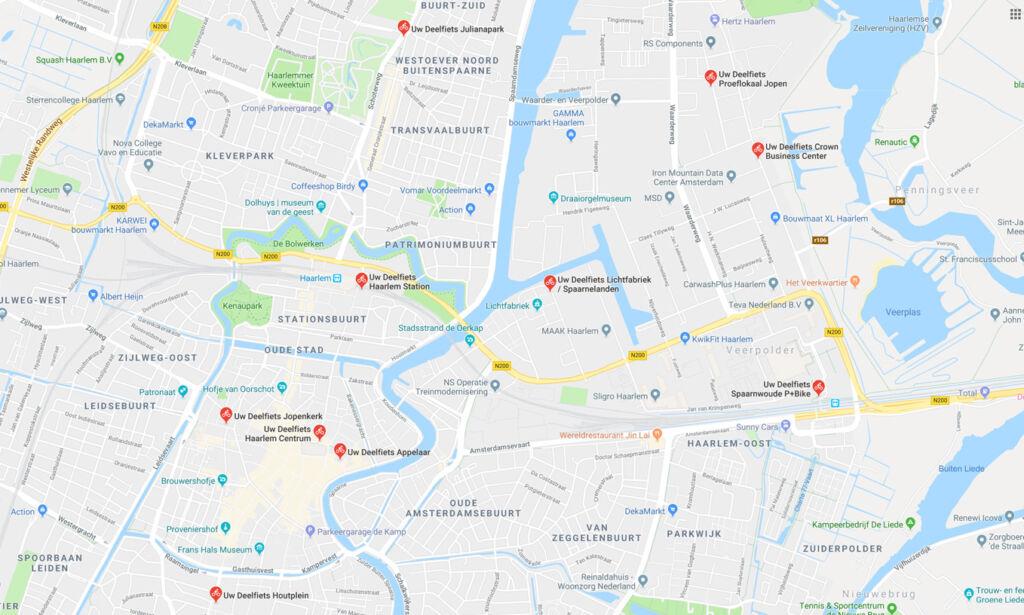 kaart Haarlem